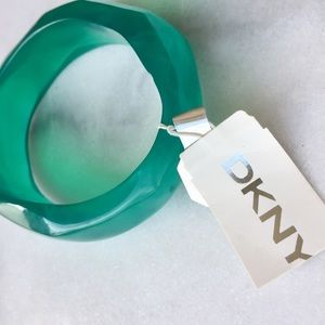 DKNY Dark Turquoise Geometric Bangle